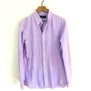 Ralph Lauren Lilac Purple Gingham Dress Shirt